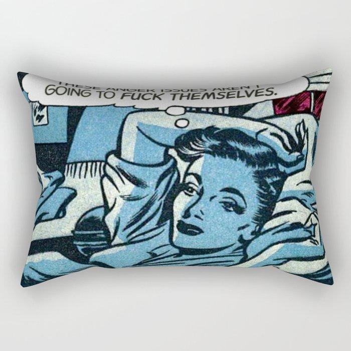 Anger Issues Rectangular Pillow