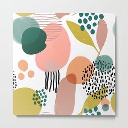 Abstract Modern Art Pattern 2 Metal Print