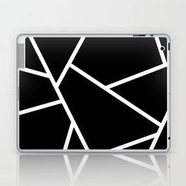 Black and White Fragments - Geometric Design II Laptop & iPad Skin