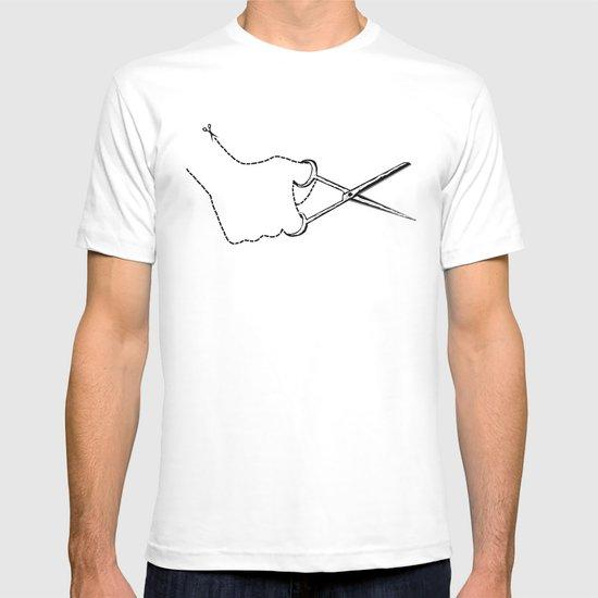 self-cut scissors T-shirt
