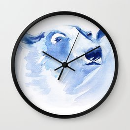bear polar Wall Clock