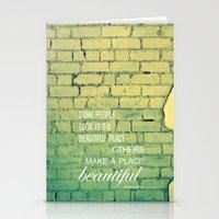 shabby chic Stationery Cards featuring shabby chic by Nina Sinitskaya