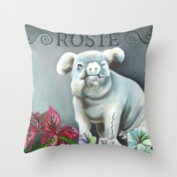 "haunted mansion Throw Pillows featuring Disneyland Haunted Mansion inspired ""Rosie""  by ArtisticAtrocities"