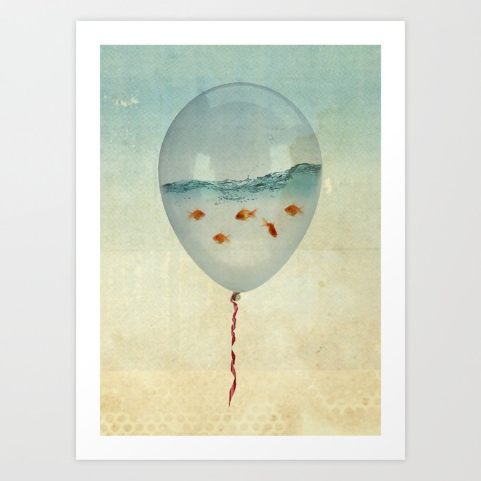 Balloon Fish Art Print By Vincepezzaniti Society6