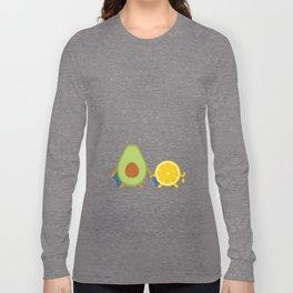 Avocado & Lemon Long Sleeve T-shirt