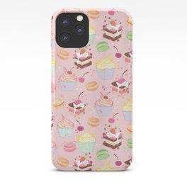 sweet pattern aka cake , cupcake and macaroon iPhone Case