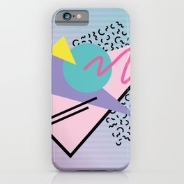Memphis pattern 44 - 80s / 90s Retro iPhone Case