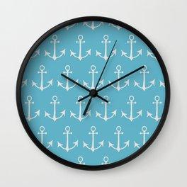 Nautical Anchors (Boat Anchors) - Blue Gray Wall Clock