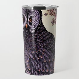 Great Grey Owl At Sunset Travel Mug