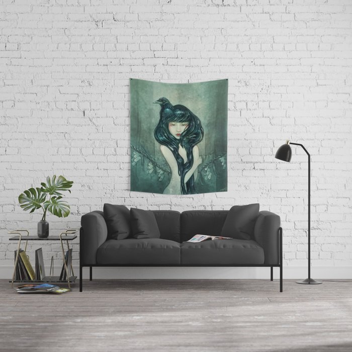 Oracle of the sodden raven Wall Tapestry