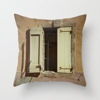 window Throw Pillows featuring Window by Maria Heyens