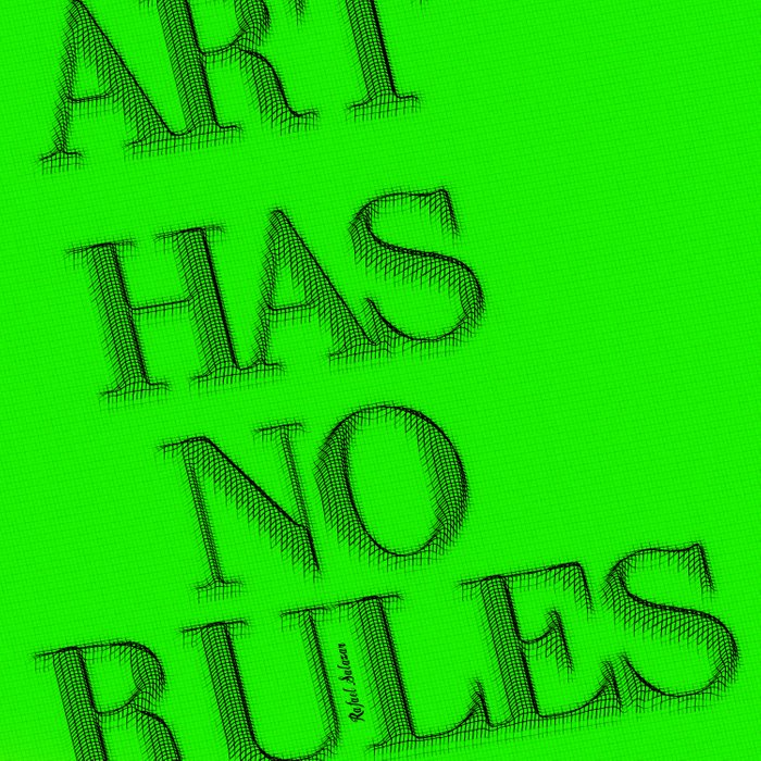 Art Has No Rules Comforters