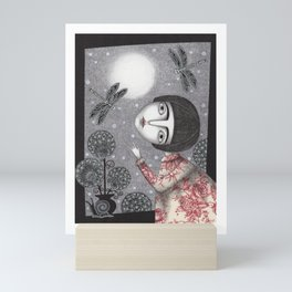Night Sky. Dragonfly. Mini Art Print