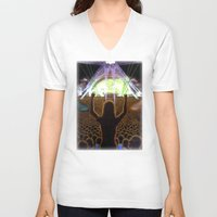 concert V-neck T-shirts featuring The Concert by Vargamari