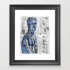 Blue Soul Framed Art Print