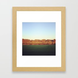 Oregon field Framed Art Print