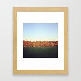 Oregon field Framed Art Print