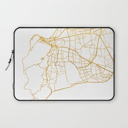 CAPE TOWN SOUTH AFRICA CITY STREET MAP ART Laptop Sleeve