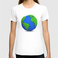 globe T-shirts featuring Globe by Tassos Kotsiras
