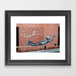 The Floating Man Framed Art Print