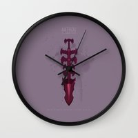 league Wall Clocks featuring League of Legends: Aatrox by Monstruonauta