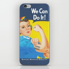 We Can Do It! - Support Marriage Equality iPhone Skin