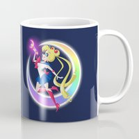 sailor moon Mugs featuring Sailor Moon by The Art of Eileen Marie
