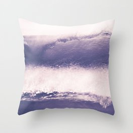 Ultraviolet Waves Throw Pillow