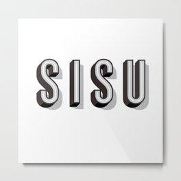 SISU - Finnish Word Metal Print
