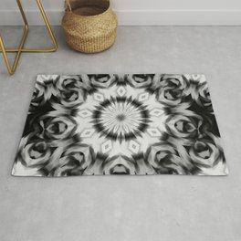 Abstract 09 black and grey pattern Rug