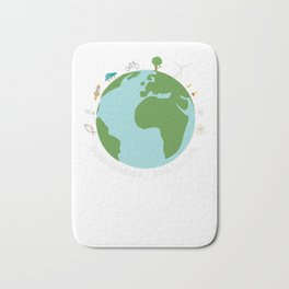 March for Science Earth Bath Mat