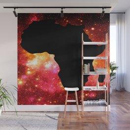 African Galaxy Red Orange Wall Mural