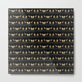 Holiday Fruit Stripes Photographic Pattern #1 Metal Print