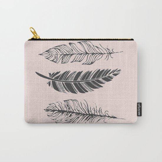 Three feathers Carry-All Pouch