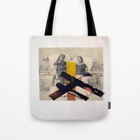 sisters Tote Bags featuring Sisters by Mimi Rico