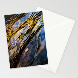 River Ripples in Copper Gold Blue and Brown Stationery Cards