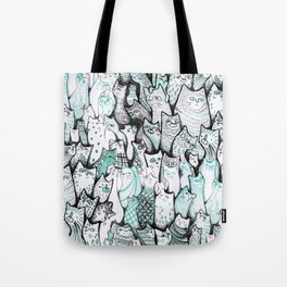 All the cats. Tote Bag