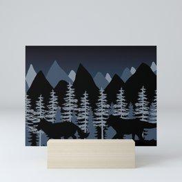 Running Wolves Mini Art Print