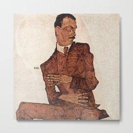 Egon Schiele - Portrait of Arthur Rossler Metal Print