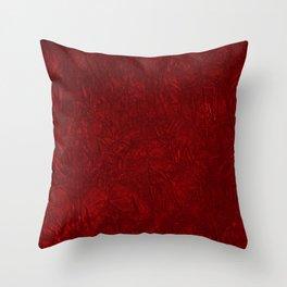 Red Crushed Velvet Throw Pillow