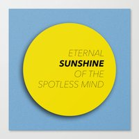 eternal sunshine of the spotless mind Canvas Prints featuring Eternal Sunshine of the Spotless Mind by kirstenariel
