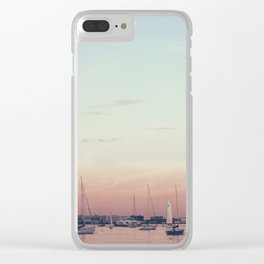 Sailing on the Boston Harbor Clear iPhone Case