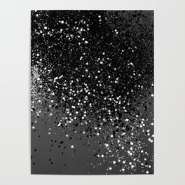 Dark Gray Black Lady Glitter #1 #shiny #decor #art #society6 Poster