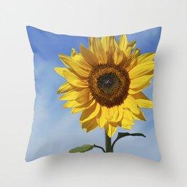 Sunflower flower Throw Pillow
