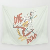 skateboard Wall Tapestries featuring Die When You're Dead by Fightstacy