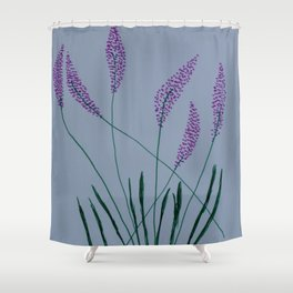 Violet Flowers Shower Curtain
