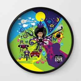 The Emoji-fication of His Purple Majesty: The Full Story Wall Clock