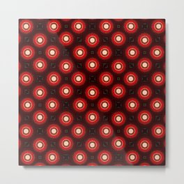 Red Wine Mandala Pattern Print Metal Print