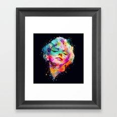 Marilyn portrait Framed Art Print