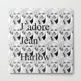 Jean Harlow Tote Metal Print